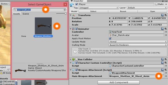 Unity Attach Weapon to Character